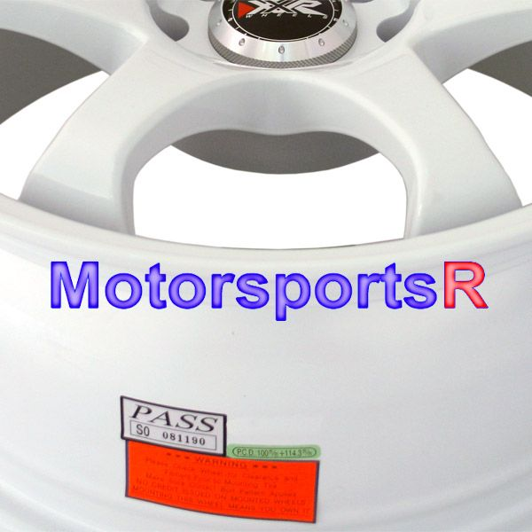 16 7 XXR 522 White Concave Rims 92 98 02 Honda Civic SI