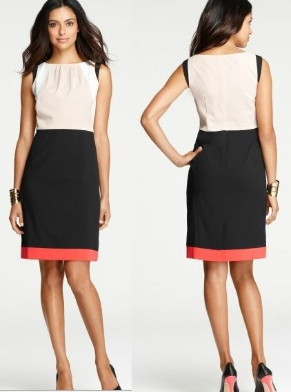 Ann Taylor Colorblock Sheath Dress Size 2,4,6